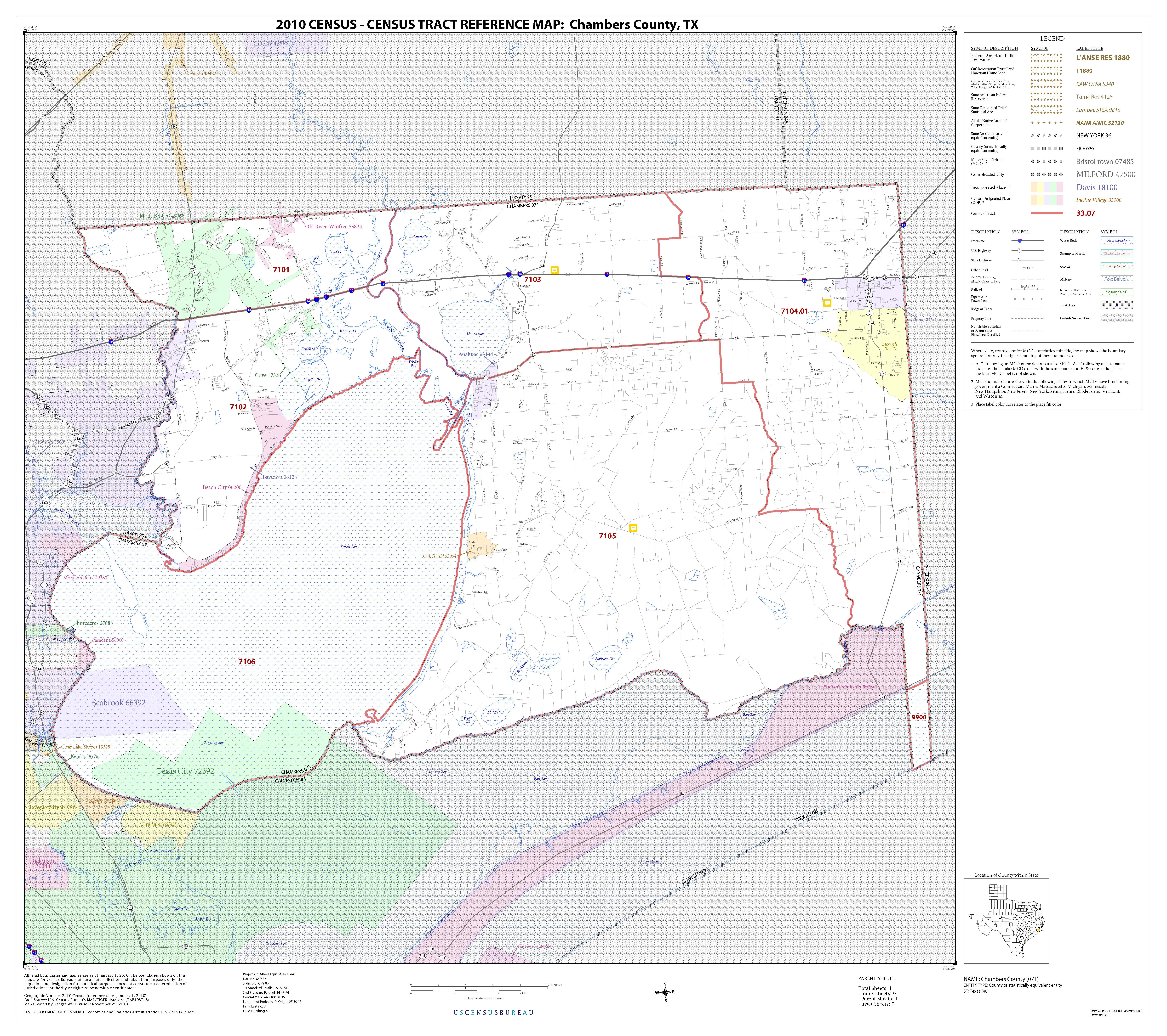 Chambers County Opportunity Zone Census Tract | Baytown - West ... on